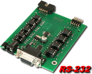 8 channel Digital I/O RS-232 Interface