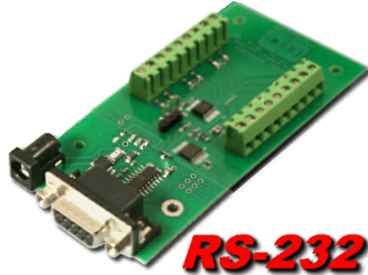8 bit, 12 channel RS-232 Analog to Digital Converter