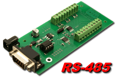 8 bit, 12 channel RS-485 Analog to Digital Converter