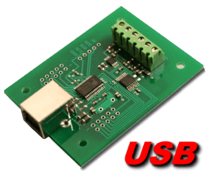 10 bit, 4 channel USB Analog to Digital Converter