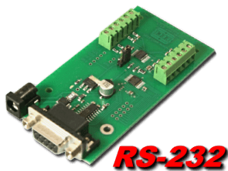 8 bit, 8 channel RS-232 Analog to Digital Converter