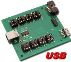 8 channel Digital I/O USB Interface